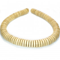 Natural White Wood 15x4mm Pucalet Beads
