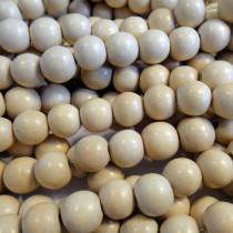 Natural White Wood 8mm Round Beads