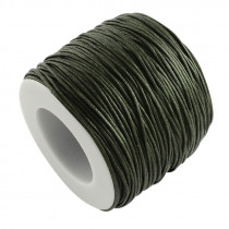 Olive Green Waxed Cotton Cord 1mm 90M Roll