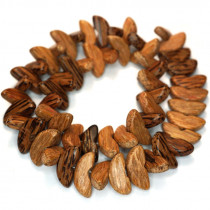 Palmwood Banana Cut Wood Beads