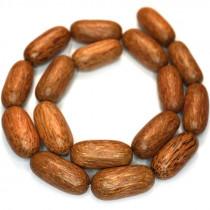 Palmwood 25x11mm Capsule Wood Beads