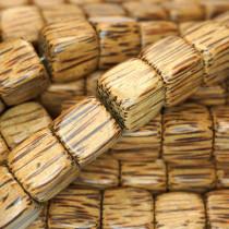 Palmwood 15mm Cube Wood Beads