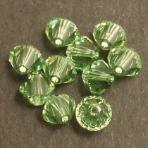 Swarovski® 4mm Peridot Bicone Xilion Cut Beads (Pack of 10)