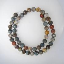 Picasso Jasper 8mm Round Beads