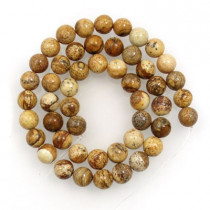 Picture Jasper 8mm Round Beads
