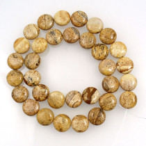 Picture Jasper 12mm Coin Beads