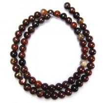 Poppy Jasper 6mm Round Beads