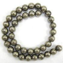 Pyrite 10mm Round Beads
