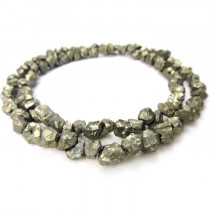 Pyrite Nugget Beads