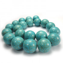 Reconstituted Turquoise 20mm Round Beads
