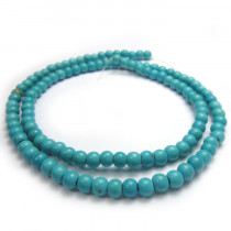 Reconstituted Turquoise 4mm Round Beads