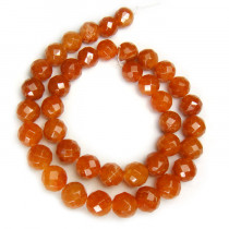 Red Aventurine 10mm Faceted Round Beads