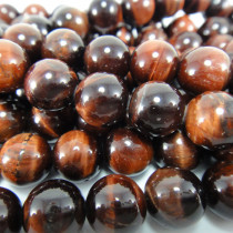 Red Tiger Eye 8mm Round Beads