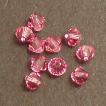 Swarovski® 4mm Rose Bicone Xilion Cut Beads (Pack of 10)