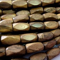 Robles Diamond Cut 18x10mm Wood Beads