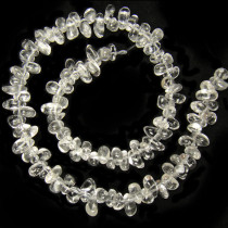Rock Crystal Drop Chip Beads
