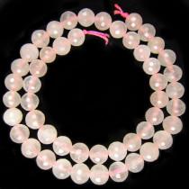 Rose Quartz 8mm Faceted Round Beads
