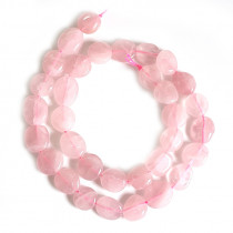 Rose Quartz Flat Style Nugget Beads