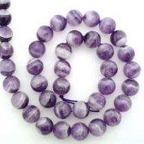 Sage Amethyst 10mm Round Beads