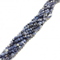 Sapphire Faceted Round Beads