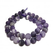 Sage Amethyst Matte/Frosted 10mm Round Beads