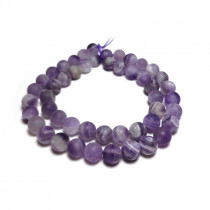 Sage Amethyst Matte/Frosted 8mm Round Beads