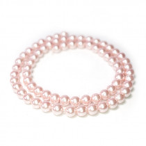 Shell Pearl Pink 6mm Round Beads
