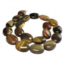 Silver Leaf Jasper 15x20mm Oval Beads