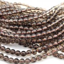 Smoky Quartz 5mm Round Beads