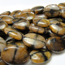 Staurolite Oval 13x18mm Gemstone Beads