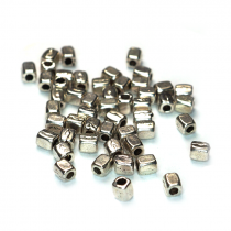 Tibetan Silver 3x2.5mm Plain Spacer Beads