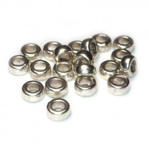 Tibetan Silver 7x4mm Plain Bead