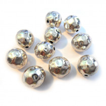 Tibetan Style Faceted 10mm Beads