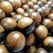 Kamagong (Tiger Ebony) 10mm Round Wood Beads