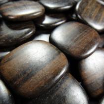 Kamagong (Tiger Ebony) Large Flat Beads