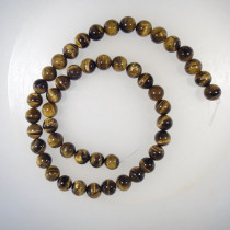 Tiger Eye 8mm Round Beads