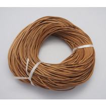 Peru Brown Cowhide Leather Cord 1.5mm Round 10M Roll