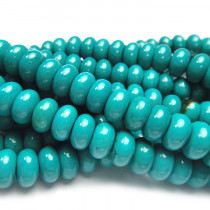 Stabilised Turquoise 5x8mm Rondelle Beads
