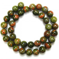Unakite 10mm Round Beads