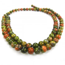 Unakite 4mm Round Beads