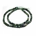 Emerald Faceted Cube Beads