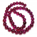 Fuchsia Agate Round 8mm Gemstone Beads