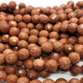 Goldstone Faceted 10mm Round Beads
