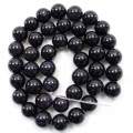 Blue Goldstone 10mm Round Beads