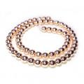 Rose Gold Hematite 6mm Round Bead