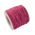 Hot Pink Waxed Cotton Cord 1mm 90M Roll