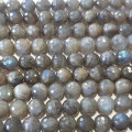 Labradorite 8mm Faceted Round Beads