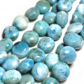 Larimar Coin 10mm Beads