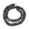 Larvikite 5x10mm Rondelle Beads