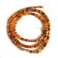 4-5mm Orange Hammer Shell Heishi Beads